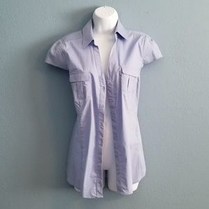 Baby Blue Button Down Blouse